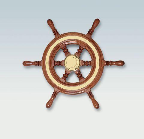 Ultraflex Steering Wheels - Mahogany Captain's Wheel