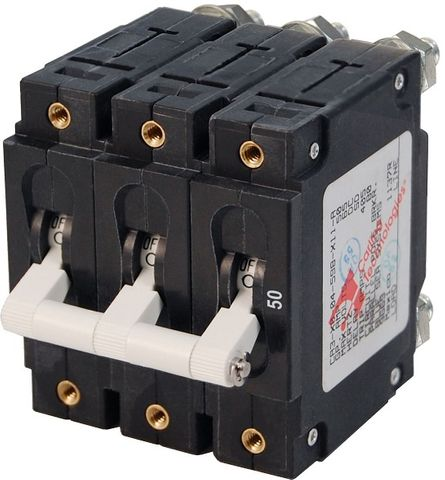 Blue Sea Circuit Breaker C Series Toggle - 3 Pole