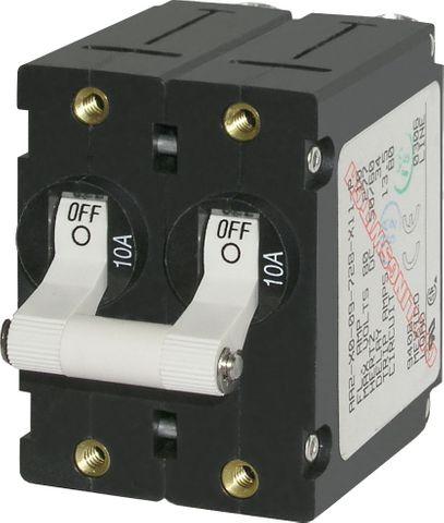 Blue Sea Circuit Breaker A Series Toggle - Double Pole
