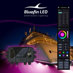 Bluefin's sophisticated IYS module offers easy App control of onboard lighting
