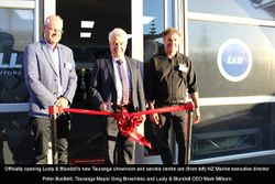 Tauranga mayor celebrates opening of new Lusty & Blundell branch