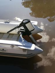 Electric Haswing Ultima a perfect fit for small inflatables and tenders