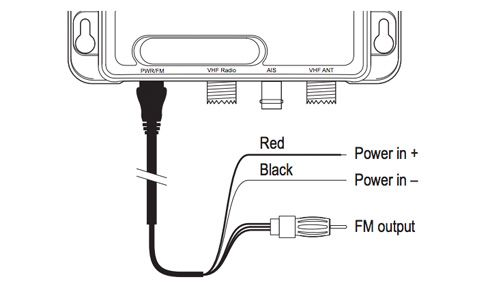 Raymarine AIS100 Active Antenna Splitter - Power and FM Cable