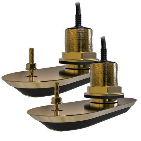 Raymarine RV-212 RealVision 3D Bronze Thru Hull Transducer Pair - 12 degree