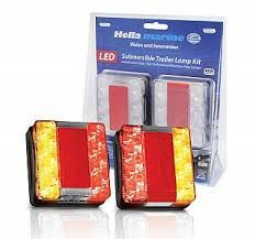Hella Marine Square Compact LED Combination Lamp Kit