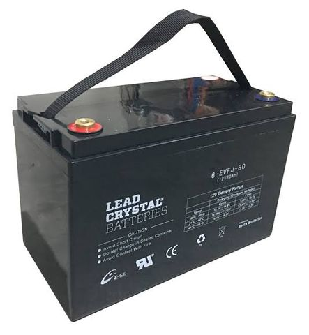 Lead Crystal EVFJ - Light Traction/Motive Battery, 12V