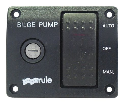 Rule 3-Way Bilge Switch (Auto/Off/Manual)