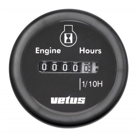 Vetus Hour Counter Gauge 12/24V
