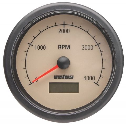Vetus 0-4000 RPM with Hour Metre 12/24V