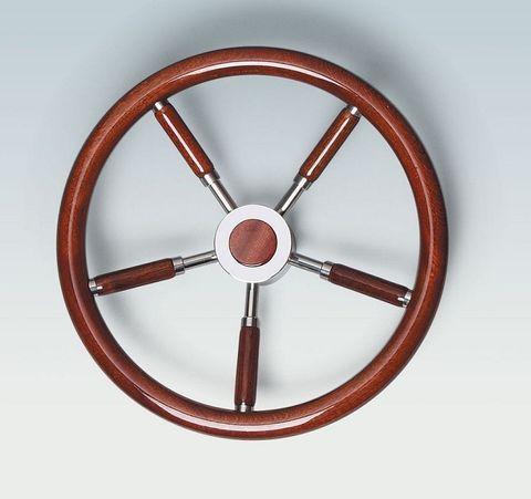Ultraflex Steering Wheels - Stainless Steel - Wood Grip