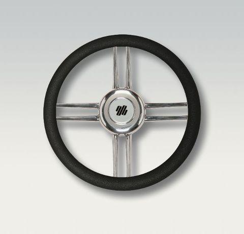 Ultraflex Steering Wheels - Stainless Steel - 4 Equidistant Spoke