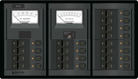 Blue Sea 360 Circuit Breaker and Meter Panel