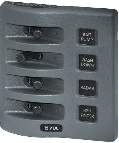 Blue Sea Weather Deck Switch Only Panel