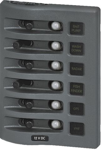 Blue Sea Weather Deck Circuit Breaker Panel