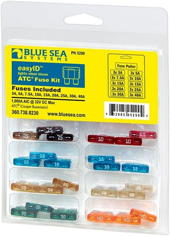 Blue Sea easyID Blade Fuse Kit