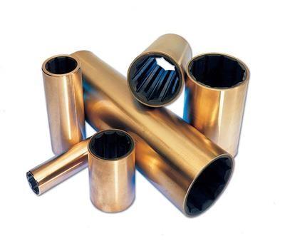 Cutlass Bearing - Metric Shaft - Imperial Shell - Brass