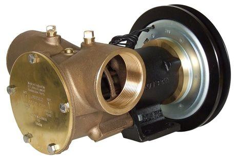 Jabsco 2in Clutch Pump 1B Pulley, 12v Electric Clutch