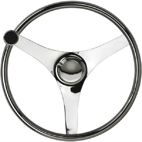 SAW  Steering Wheels - Stainless Steel - 3 Equidistant Spoke