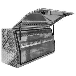 MTW Aluminium Chequer Plate Ute Toolbox - 1400x500x700mm