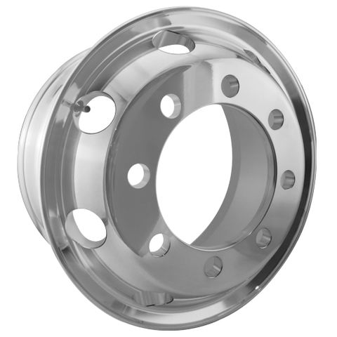 19.5 x 8.25, 8 Stud, 32mm, 275mm PCD, Machined Alloy Wheel
