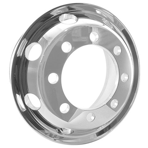19.5 x 8.25, 8 Stud, 32mm, 275mm PCD, Polished Alloy Wheel