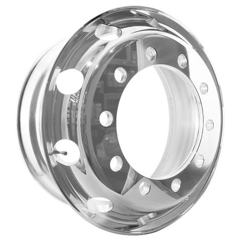 22.5 x 8.25, 10 Stud, 32mm Retro, 335mm PCD, Polished Alloy Wheel