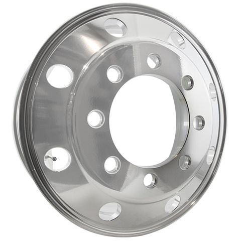 22.5 x 8.25, 8 Stud, 32mm J-Budd, 285mm PCD, Machined Alloy Wheel