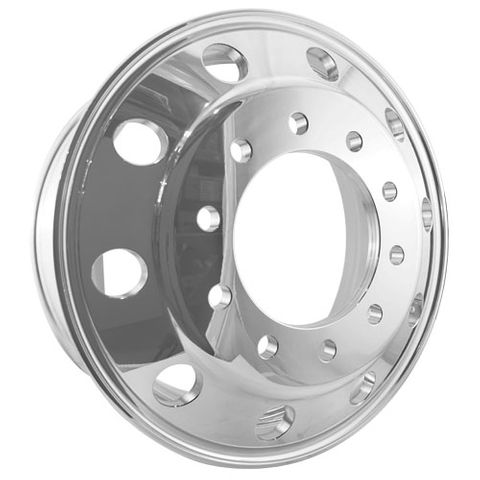 22.5 x 8.25, 10 Stud, 24mm, 285mm PCD, Polished Alloy Wheel