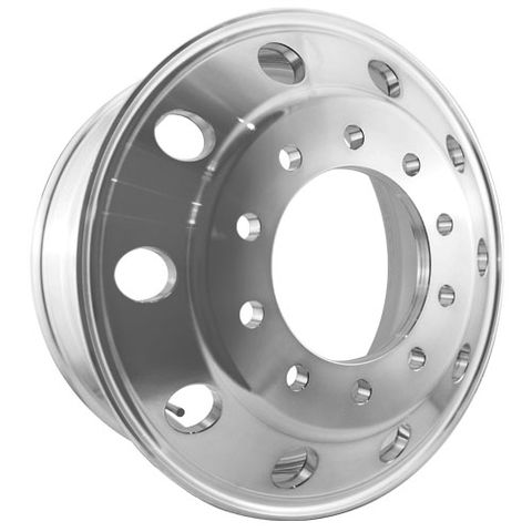 22.5 x 8.25, 10 Stud, 24mm, 285mm PCD, Inner Polished Alloy Wheel