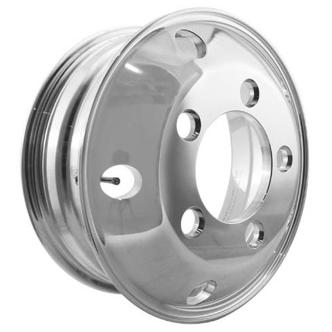 16 x 5.5, 5 Stud, 32mm J-Budd, 208mm PCD, Polished Alloy Wheel