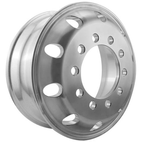 17.5 x 6.0, 10 Stud, 24mm, 225mm PCD, Machined Alloy Wheel