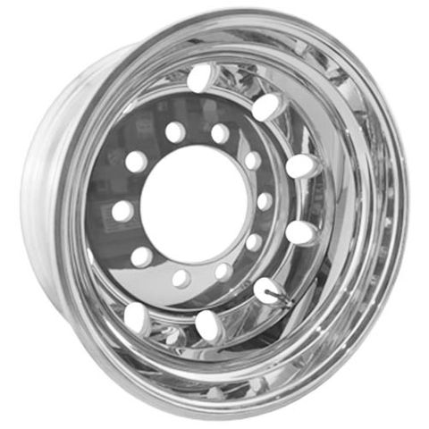 17.5 x 6.0, 10 Stud, 24mm, 225mm PCD, Polished Alloy Wheel