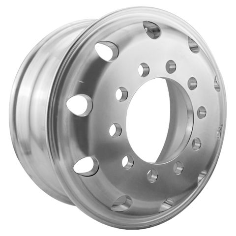 17.5 x 6.75, 10 Stud, 24mm, 225mm PCD, Polished Alloy Wheel
