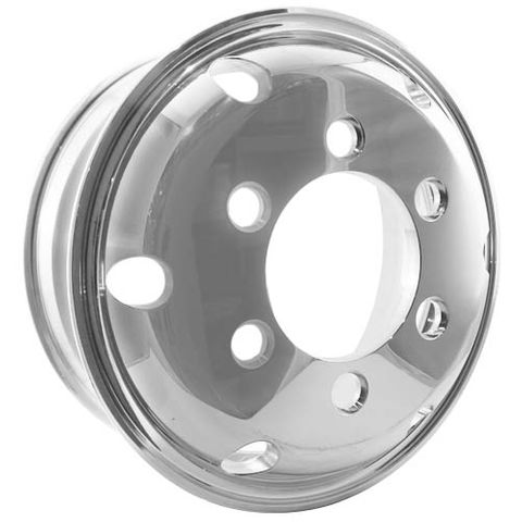 17.5 x 6.0, 6 Stud, 32mm, 222.25mm PCD, Polished Alloy Wheel
