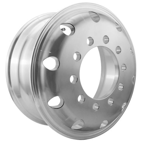 17.5 x 6.75, 10 Stud, 24mm, 225mm PCD, Machined Alloy Wheel
