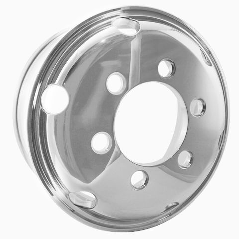 17.5 x 6.75, 6 Stud, 32mm J-Budd, 222.25mm PCD, Polished Alloy Wheel