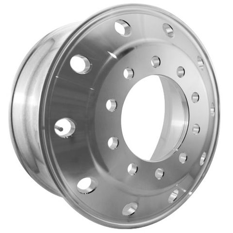 22.5 x 9.0, 10 Stud, 24mm, 285mm PCD, Machined Alloy Wheel