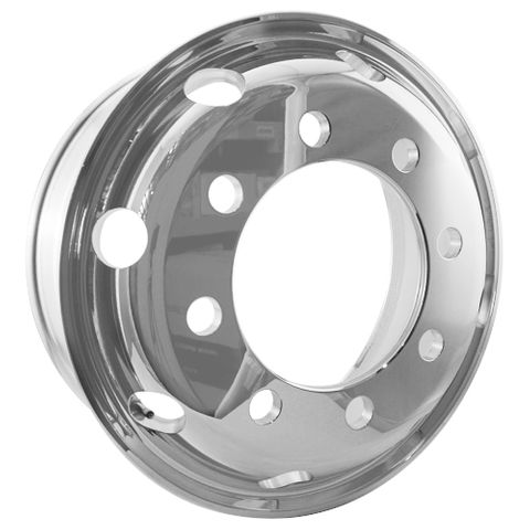 19.5 x 6.75, 8 Stud, 32mm, 285mm PCD, Polished Alloy Wheel