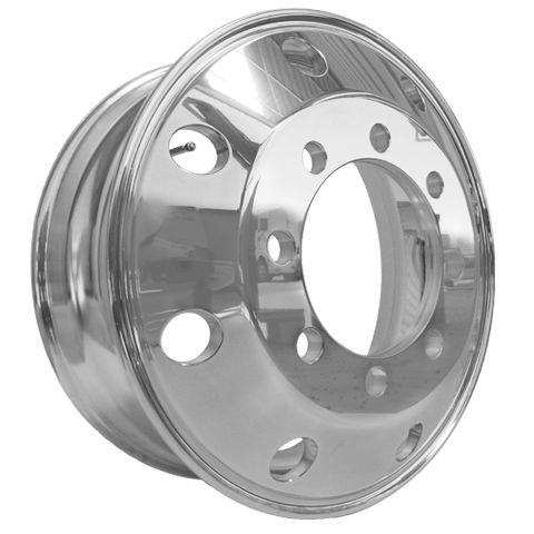 22.5 x 7.5, 8 Stud, 32mm, 275mm PCD, Polished Alloy Wheel