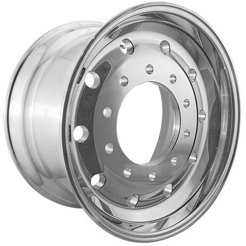 22.5 x 12.25, 10 Stud, 24mm, 285mm PCD, Polished Alloy Wheel
