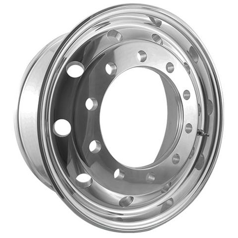 22.5 x 9.0, 10 Stud, 32mm, 335mm PCD, Polished Alloy Wheel