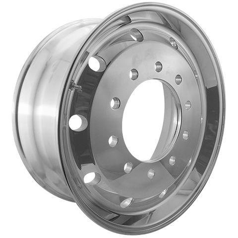 22.5 x 9.0, 10 Stud, 26mm, 285mm PCD, Polished Alloy Wheel
