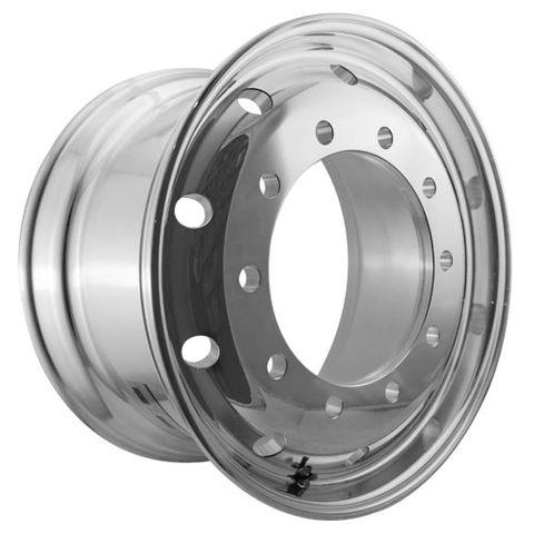 22.5 x 11.75, 10 Stud, 24mm, 335mm PCD, Machined Alloy Wheel