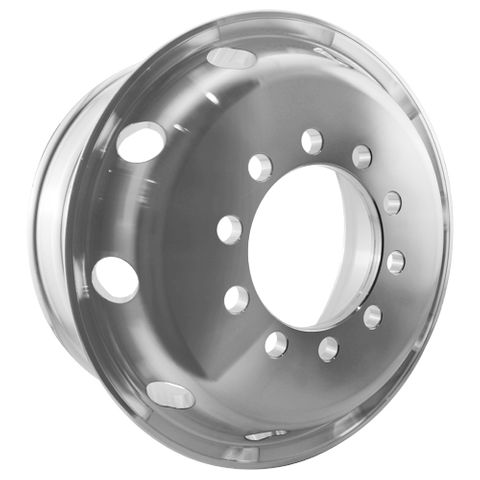19.5 x 7.5, 10 Stud, 24mm, 225mm PCD, Machined Alloy Wheel