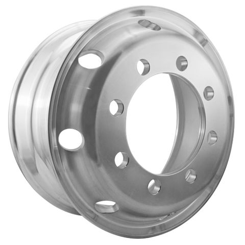 19.5 x 7.5, 8 Stud, 32mm, 275mm PCD, Polished Alloy Wheel