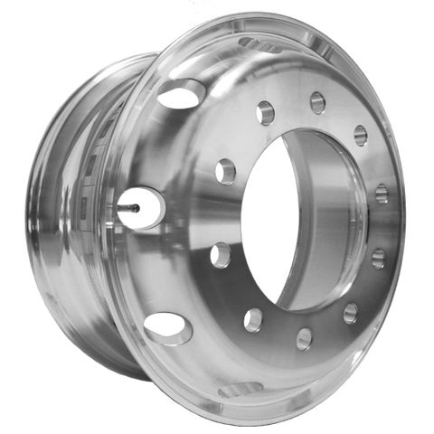 19.5 x 7.5, 10 Stud, 24mm, 285mm PCD, Machined Alloy Wheel