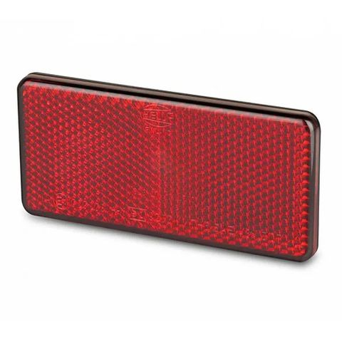 Hella Retro Reflector - 94 x 44mm - Red - Adhesive mount