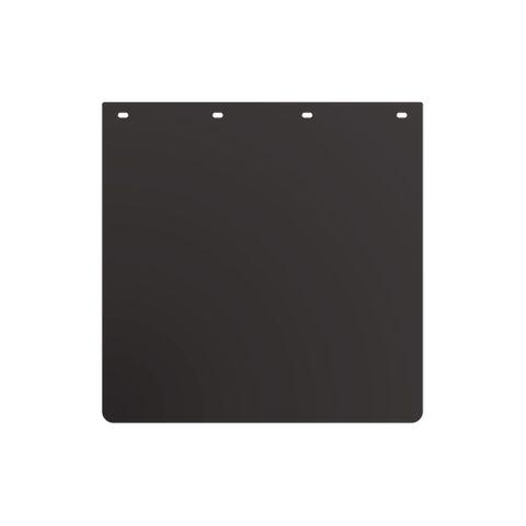 24x24 Black Mud Flap - Plastic