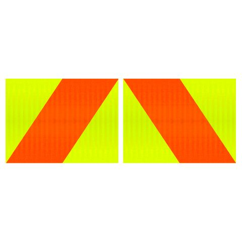 Hazard Panels 400 x 300 Single Sided (Pair) - Alloy
