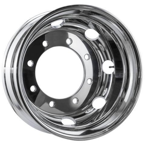 19.5 x 7.5, 8 Stud, 24mm, 275mm PCD, Polished Alloy Wheel